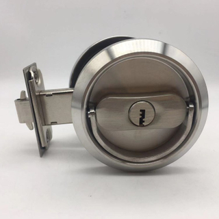 ECH SSS stainless steel Round Handle Door Lock for Sliding Door